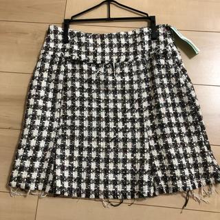 インディオ(indio)のツィードスカート Mサイズ Indio クリーニング済(ひざ丈スカート)