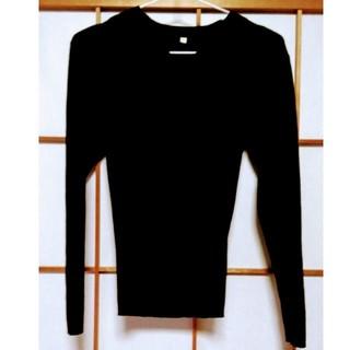 ムジルシリョウヒン(MUJI (無印良品))の無印良品 ウール100%リブVネックセーター(ニット/セーター)