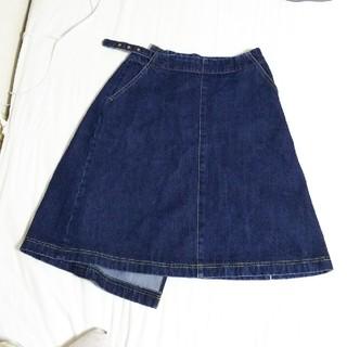 フィグロンドン(fig London)のデニムスカート(ひざ丈スカート)