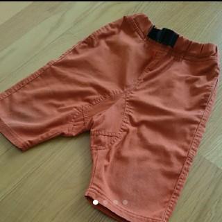 ジーユー(GU)のGU オレンジハーフパンツ 110cm(パンツ/スパッツ)