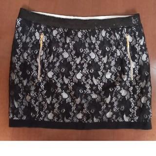 アッシュペーフランス(H.P.FRANCE)の【MIRIAM OCARIZ】黒 レースのスカート(ミニスカート)