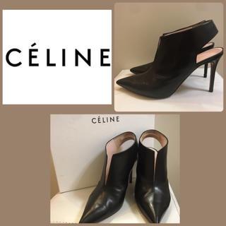 セリーヌ(celine)のセリーヌ♡ブラックレザー ブーティ♡(ブーティ)