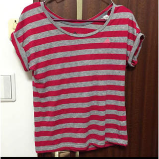 アディダス(adidas)のadidas ボーダー TシャツS(Tシャツ/カットソー(半袖/袖なし))