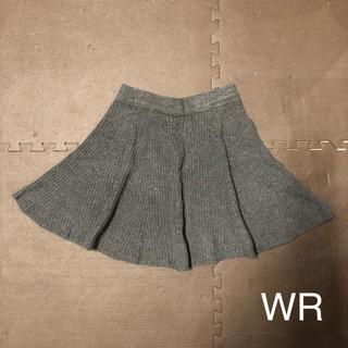 ダブルアール(WR)のWR ニットスカート ダークグレー(ミニスカート)