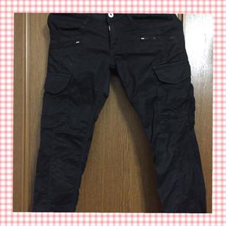 ゴーサンゴーイチプーラファム(5351 POUR LES FEMMES)の黒カーゴスリムパンツ♫(ワークパンツ/カーゴパンツ)
