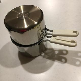 ベルメゾン(ベルメゾン)のコロあず様専用‼️ オイルポット 鍋 揚げ物 ダブルポット ステンレス(調理道具/製菓道具)