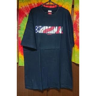 クリミナル(Kriminal)のKriminal 星条旗ロゴプリントTシャツ/大きいサイズ(Tシャツ/カットソー(半袖/袖なし))