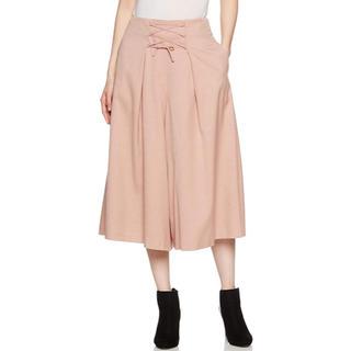 ミラオーウェン(Mila Owen)のミラオーウェン ガウチョ スカーチョ 編み上げスカート見えガウチョパンツ(カジュアルパンツ)