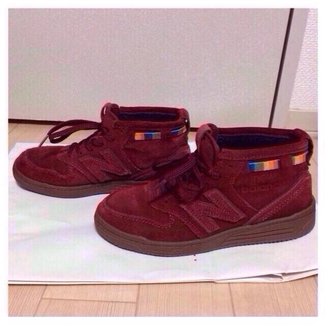New Balance(ニューバランス)のNew Balance 赤スニーカー レディースの靴/シューズ(スニーカー)の商品写真