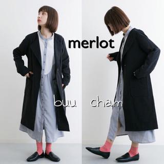 メルロー(merlot)のmerlot♡ウエストリボンノーカラーコート(トレンチコート)