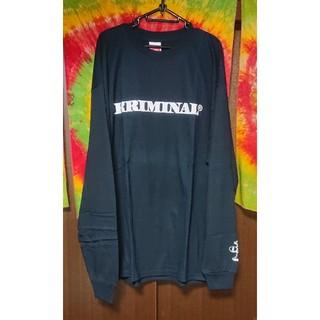 クリミナル(Kriminal)のKriminal 肖像プリントロングスリーブTシャツ/大きいサイズ(Tシャツ/カットソー(七分/長袖))