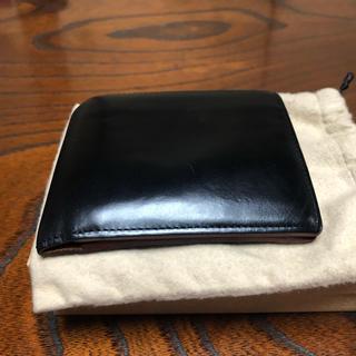 ガンゾ(GANZO)のGANZO ブライドルレザー 折りたたみ財布 ブラック(折り財布)