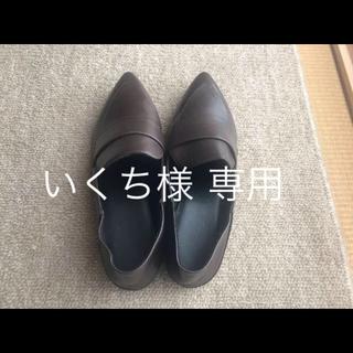 ジーユー(GU)の【ほぼ未使用】GU ローパンプス ブラウン Lサイズ(ハイヒール/パンプス)