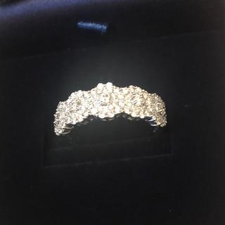 18KWG ダイヤモンドデザインリング 計1ct UP(リング(指輪))