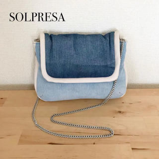 ソルプレーサ(SOLPRESA)の未使用  SOLPRESA  DENIM ポシェット ポーチ(ショルダーバッグ)
