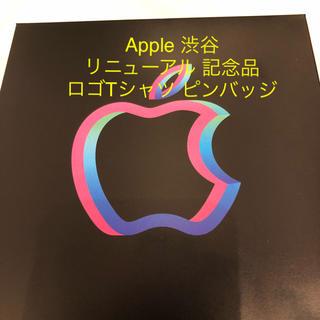 アップル(Apple)の専用出品 Apple Store 渋谷 ロゴTシャツ ピンバッジ 記念品(Tシャツ/カットソー(半袖/袖なし))