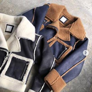 シールームリン(SeaRoomlynn)のわんこ部長様専用☆juemi short mouton jacket NAVY(ムートンコート)