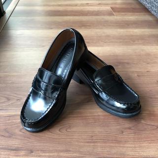 シマムラ(しまむら)の【美品】しまむら ローファー 黒 23.5cm(ローファー/革靴)