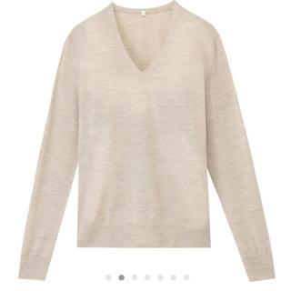 ムジルシリョウヒン(MUJI (無印良品))の無印良品  ウールシルク Vネックセーター(ニット/セーター)