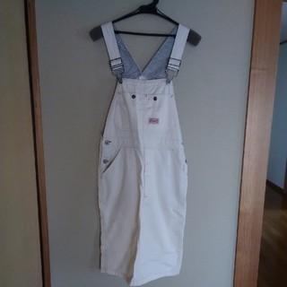 オールオーディナリーズ(ALL ORDINARIES)のALL ORDINARIES 白ジャンパースカート(ひざ丈ワンピース)