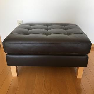 イケア(IKEA)の★T3710さま専用★IKEA オットマン 大きめ 革(オットマン)