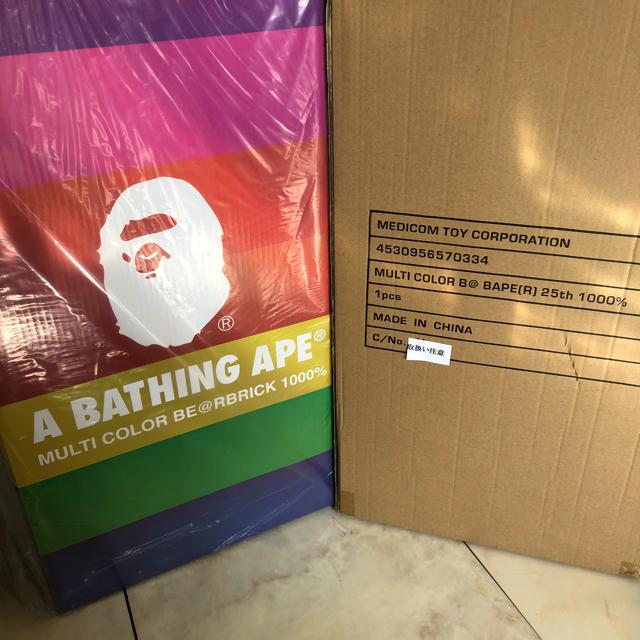 A BATHING APE(アベイシングエイプ)のbape ベアブリック 1000% エンタメ/ホビーのフィギュア(その他)の商品写真