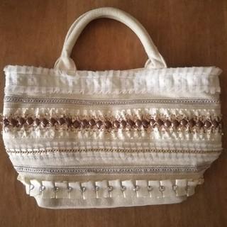 クーコ(COOCO)のキラキラの帆布バッグ クーコcooco(トートバッグ)