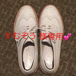 スピックアンドスパン(Spick and Span)の💖かむぞう様専用💖 本革 ホワイト オックスフォードシューズ❣️(ローファー/革靴)