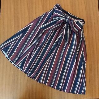 トッコ(tocco)のtocco  closet スカラップマルチストライプスカート(ひざ丈スカート)