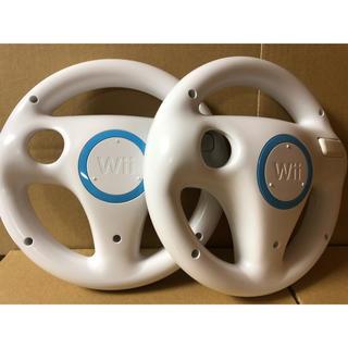 Wii - wii マリオカート ハンドル2個