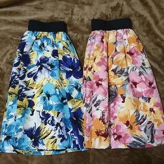 チェスティ(Chesty)の花柄 スカート ピンク(ひざ丈スカート)