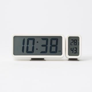 ムジルシリョウヒン(MUJI (無印良品))の無印 デジタル時計 WH&温湿度計 WH(置時計)