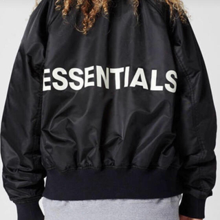 fog raglan ボンバージャケット 黒 essentials(ブルゾン)