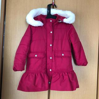 プティマイン(petit main)の裾フリル中綿ロングコート 110(コート)