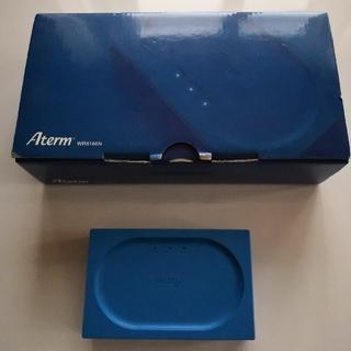 エヌティティドコモ(NTTdocomo)の新品未使用 wi-fiルーター Aterm WR8166N ブルー(PC周辺機器)