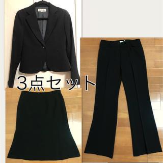スタイルコム(Style com)のジョーゼット スーツ 3点セット 【フォーマルにも、喪服にも】【日本製】(スーツ)