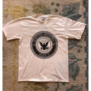 アメリカ軍 U.S.NAVY ホワイト TシャツL(新品 実物 ミリタリー)(戦闘服)