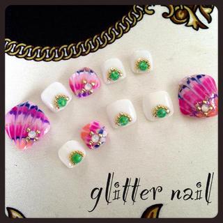 glitter♡フットネイルチップ♡