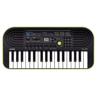 CASIO 32ミニ鍵盤 電子キーボード SA-46 ブラック&グリーン(エレクトーン/電子オルガン)