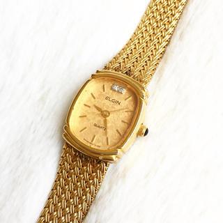 エルジン(ELGIN)の電池交換込み☆ エルジン スイス レディース腕時計(腕時計)