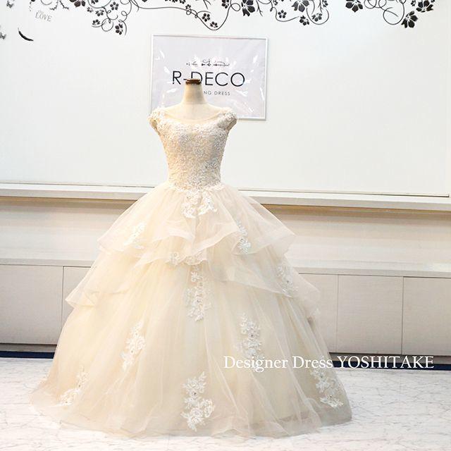 ウエディングドレス(パニエ無料) アイボリープリンセスドレス 挙式 レディースのフォーマル/ドレス(ウェディングドレス)の商品写真
