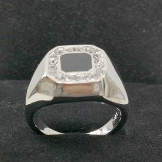 [新品]サージカルステンレス316L CZ指輪リング US9 19.5号 (リング(指輪))