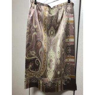 コルディア(CORDIER)のコルディア ゴールド・パープルスカート(ひざ丈スカート)