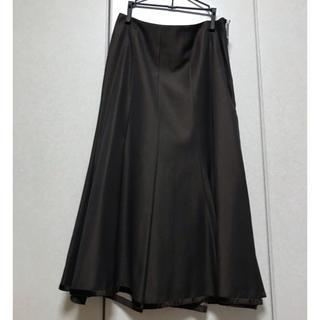 コルディア(CORDIER)のワールドDESVSIO ダークブラウンフレアスカート(ひざ丈スカート)