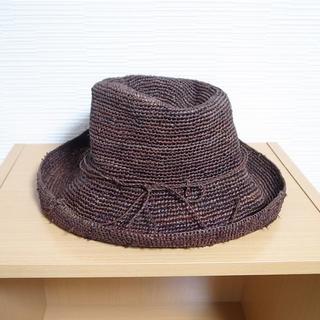 ムジルシリョウヒン(MUJI (無印良品))の無印良品 ラフィア麦わら帽子 茶(麦わら帽子/ストローハット)