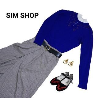 【styleZAMPA】ビーズ刺繍 ニットセーター
