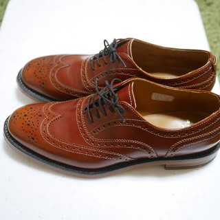 リーガル(REGAL)のリーガル プレミアムライン ウイングチップシューズ 茶 ブラウン 25cm(ローファー/革靴)