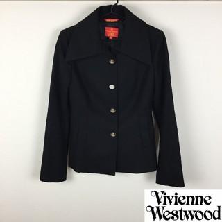 ヴィヴィアンウエストウッド(Vivienne Westwood)の美品 ヴィヴィアンウエストウッドレッドレーベル チェスターコート メルトン生地(チェスターコート)