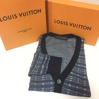 ルイヴィトン(LOUIS VUITTON)の国内正規品 ルイヴィトン デザイン カーディガン 上質!極美品(カーディガン)