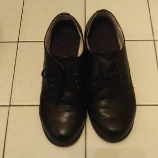 ハコ(haco!)の【たま樣専用】haco 黒 マニッシュシューズ  23.5(ローファー/革靴)